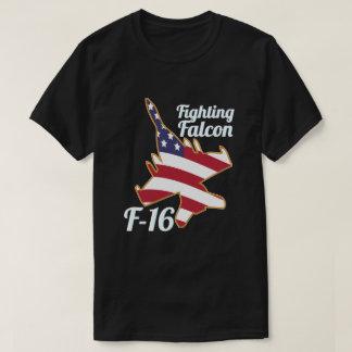 T-shirt Drapeau de combat Amérique des USA du faucon F-16
