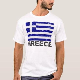 T-shirt Drapeau de cru de la Grèce