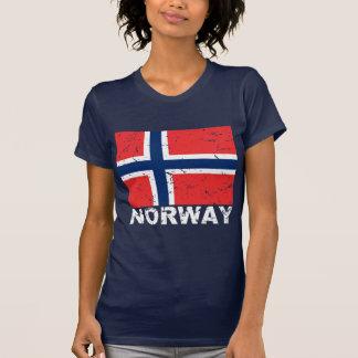 T-shirt Drapeau de cru de la Norvège