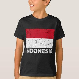 T-shirt Drapeau de cru de l'Indonésie