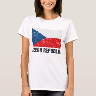 T-shirt Drapeau de cru de République Tchèque