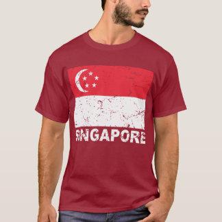 T-shirt Drapeau de cru de Singapour