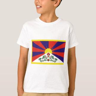 T-shirt Drapeau de drapeau de lion du Thibet ou de la
