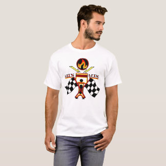 T-shirt Drapeau de emballage Checkered du piston des