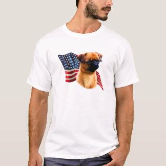 T-shirt Drapeau de griffon de Bruxelles