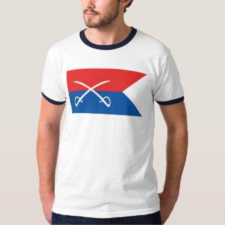 T-shirt Drapeau de Guidon de Custer - guerre civile