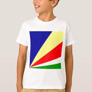T-shirt Drapeau de haute qualité des Seychelles