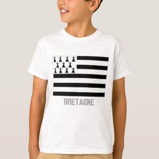 T-shirt Drapeau de la Bretagne avec le nom