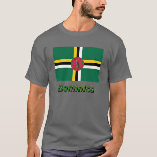 T-shirt Drapeau de la Dominique avec le nom