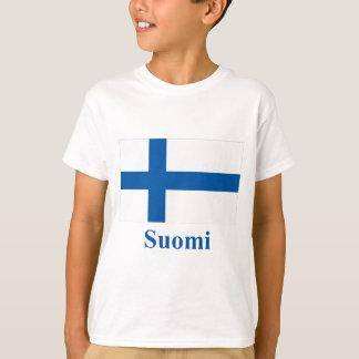 T-shirt Drapeau de la Finlande avec le nom dans finlandais