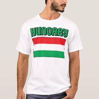 T-shirt Drapeau de la Hongrie