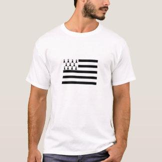 T-shirt drapeau de la la Bretagne Gwenn ha du Breton Flag