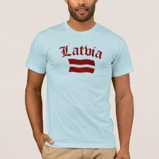 T-shirt Drapeau de la Lettonie (w/insciption)