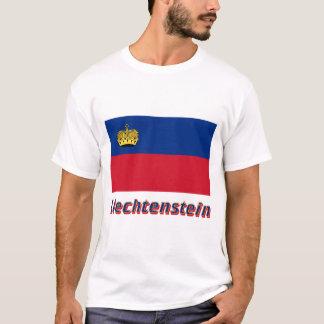 T-shirt Drapeau de la Liechtenstein avec le nom