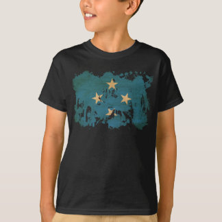 T-shirt Drapeau de la Micronésie