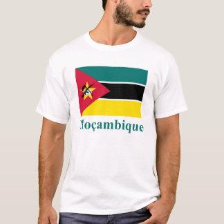 T-shirt Drapeau de la Mozambique avec le nom dans le