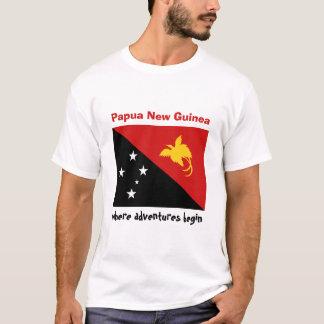 T-shirt Drapeau de la Papouasie-Nouvelle-Guinée + Carte +