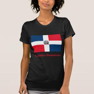 T-shirt Drapeau de la République Dominicaine avec le nom