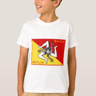 T-shirt Drapeau de la Sicile