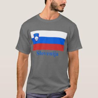 T-shirt Drapeau de la Slovénie avec le nom dans le Slovène