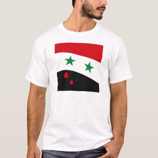 T-shirt Drapeau de la Syrie ondulant avec les larmes