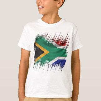T-shirt Drapeau de l'Afrique du Sud de défibreurs