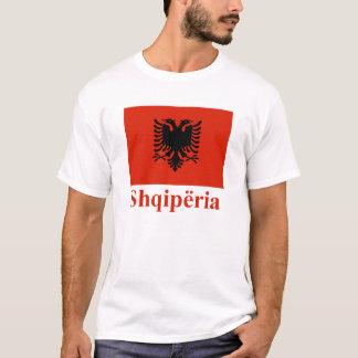 T-shirt Drapeau de l'Albanie avec le nom dans l'Albanais