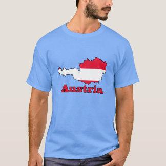 T-shirt Drapeau de l'Autriche dans la carte