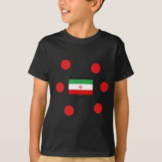 T-shirt Drapeau de l'Iran et conception persane de langue