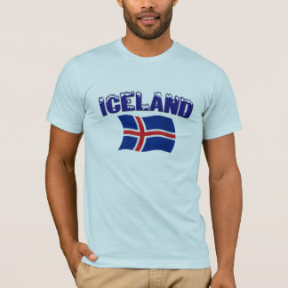 T-shirt Drapeau de l'Islande (w/inscription)