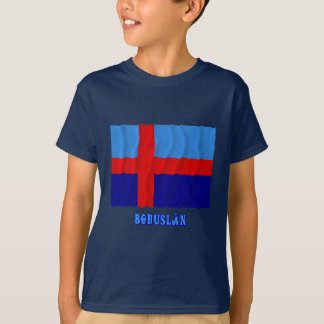 T-shirt Drapeau de ondulation de Bohuslän avec le nom