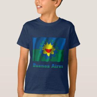T-shirt Drapeau de ondulation de Buenos Aires avec le nom