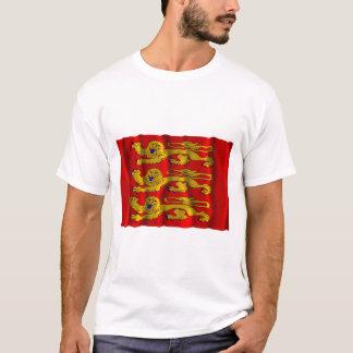T-shirt Drapeau de ondulation de Haute-Normandie