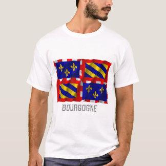 T-shirt Drapeau de ondulation de la Bourgogne avec le nom