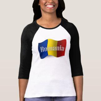 T-shirt Drapeau de ondulation de la Roumanie