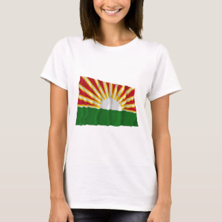 T-shirt Drapeau de ondulation de Lara
