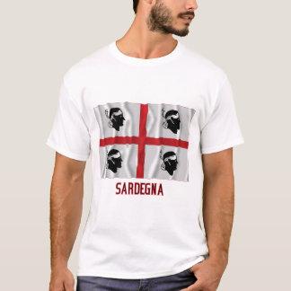 T-shirt Drapeau de ondulation de Sardegna avec le nom