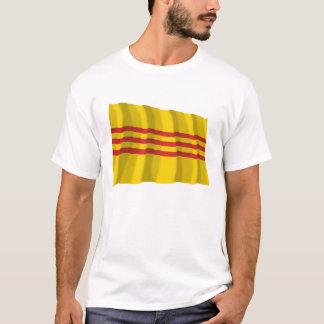 T-shirt Drapeau de ondulation du Vietnam du Sud