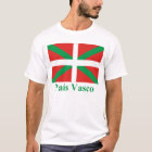 T-shirt Drapeau de País Vasco (Euskadi) avec le nom