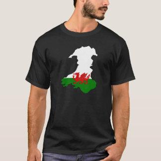 T-shirt Drapeau de pays de Gallois