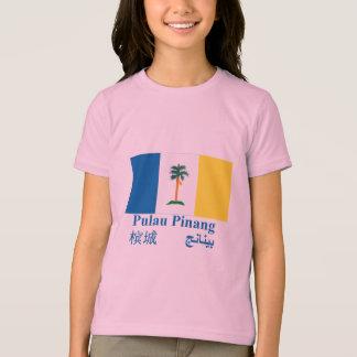 T-shirt Drapeau de Penang avec le nom