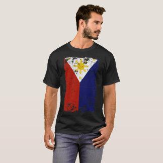 T-shirt Drapeau de Philippines affligé par cru philippin