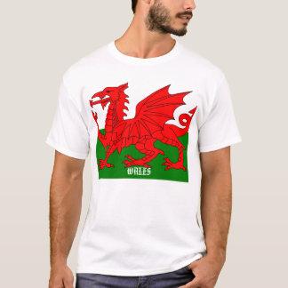 T-shirt Drapeau de pièce en t du Pays de Galles