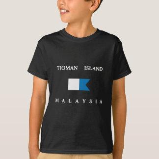 T-shirt Drapeau de piqué de la Malaisie d'île de Tioman