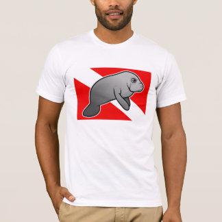 T-shirt Drapeau de piqué de lamantin