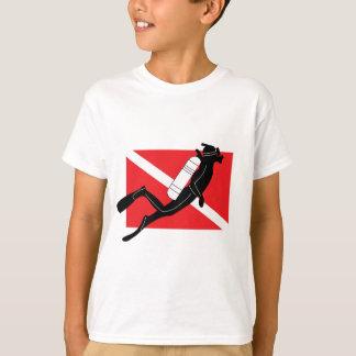 T-shirt Drapeau de piqué de SCAPHANDRE avec les enfants
