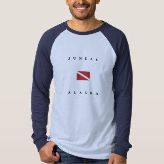 T-shirt Drapeau de piqué de scaphandre de Juneau Alaska