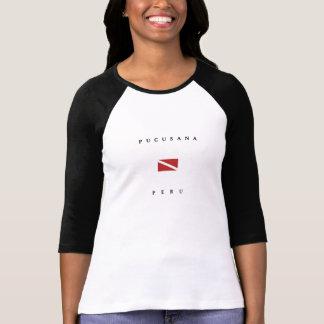 T-shirt Drapeau de piqué de scaphandre de Pucusana Pérou