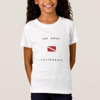 T-Shirt Drapeau de piqué de scaphandre de San Diego la