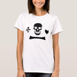 T-shirt Drapeau de pirate authentique de capot de Stede